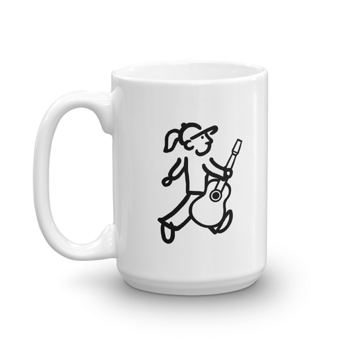 WalkingGal - Plays the Guitar - Coffee Mug