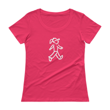 Load image into Gallery viewer, Quote #30a - WalkingGal - Ladies' Scoopneck Quote Shirt