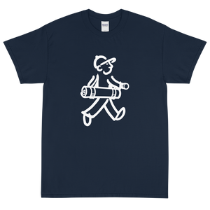 Walking Man - Does Yoga - Short Sleeve T-Shirt