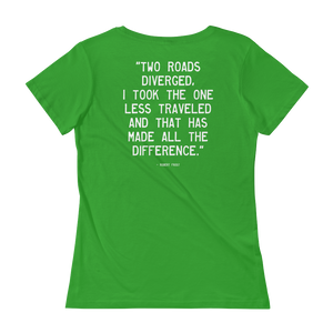 Quote #50 - WalkingGal - Ladies' Scoopneck Quote Shirt