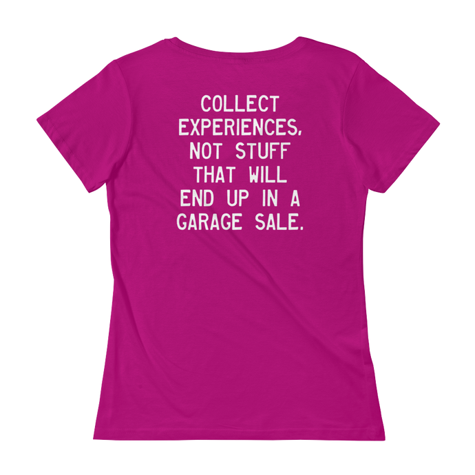 Quote #42 - WalkingGal - Ladies' Scoopneck Quote Shirt