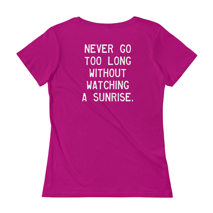Quote #36b - WalkingGal - Ladies' Scoopneck Quote Shirt