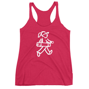 Walking Gal - Goes to Yoga - Women's Racerback Tank