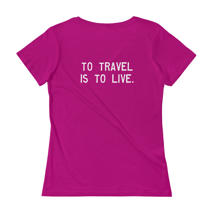 Quote #40 - WalkingGal - Ladies' Scoopneck Quote Shirt