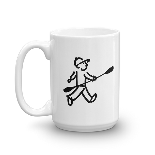 WalkingMan - Paddles his Kayak - Coffee Mug