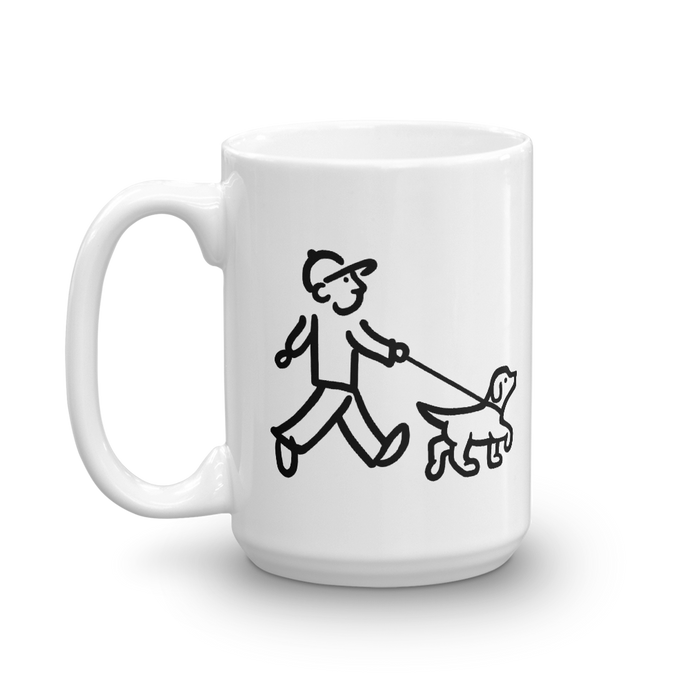 WalkingMan - Walking the Dog - Coffee Mug