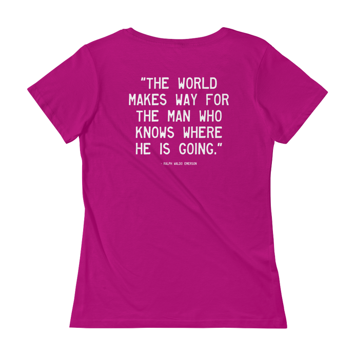 Quote #48 - WalkingGal - Ladies' Scoopneck Quote Shirt
