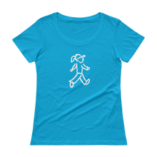 Load image into Gallery viewer, Quote #11 - WalkingGal - Ladies' Scoopneck Quote Shirt