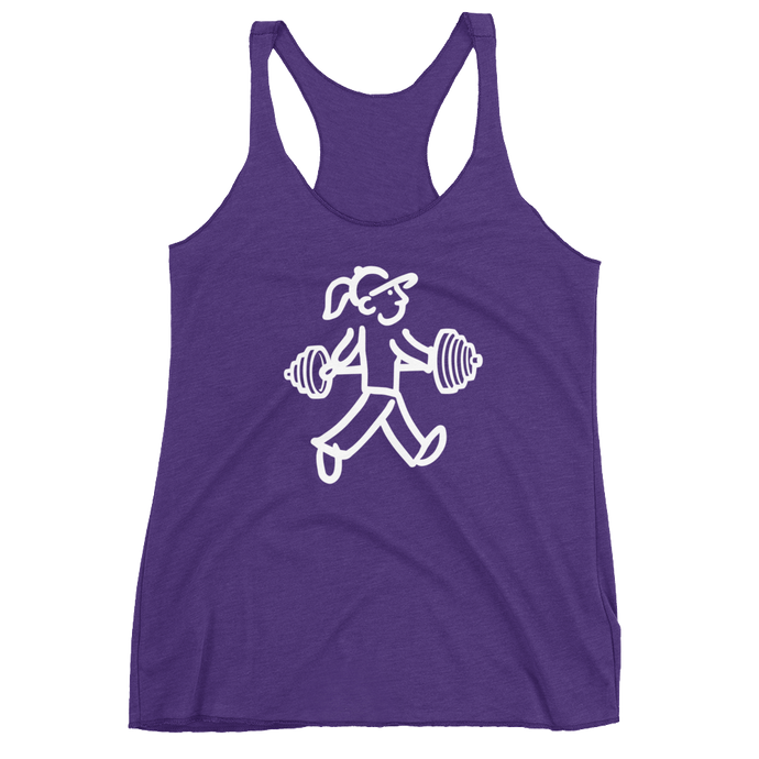 Walking Gal - Working Out - Women's Racerback Tank
