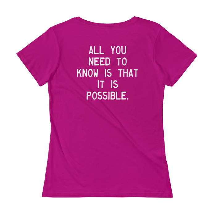 Quote #41 - WalkingGal - Ladies' Scoopneck Quote Shirt