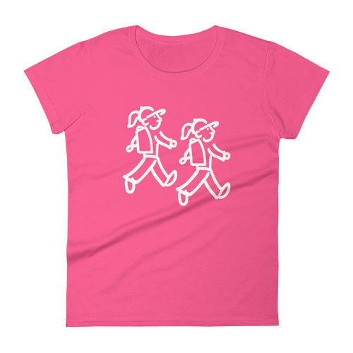 Walking Gals - Hiking Couple - Women's short sleeve t-shirt