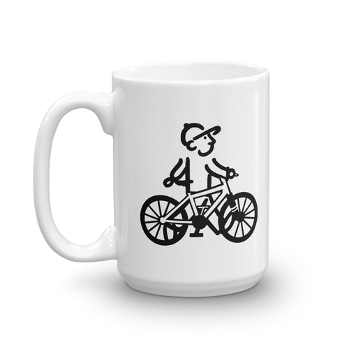WalkingMan - Rides his Bike - Coffee Mug