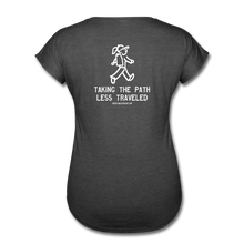 Load image into Gallery viewer, Great Trails - Snowman Trek - Women's Tri-Blend V-Neck T-Shirt - deep heather
