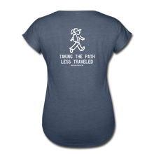 Load image into Gallery viewer, Great Trails - Snowman Trek - Women's Tri-Blend V-Neck T-Shirt - navy heather