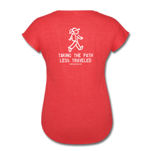 Load image into Gallery viewer, Great Trails - Snowman Trek - Women's Tri-Blend V-Neck T-Shirt - heather red
