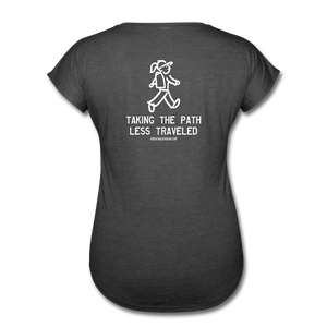 Great Trails - Chilkoot Trail - Women's Tri-Blend V-Neck T-Shirt - deep heather
