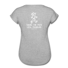 Load image into Gallery viewer, Great Trails - Chilkoot Trail - Women's Tri-Blend V-Neck T-Shirt - heather gray