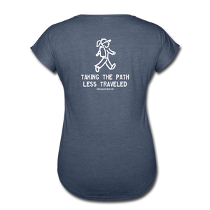 Great Trails - Chilkoot Trail - Women's Tri-Blend V-Neck T-Shirt - navy heather