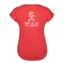 Load image into Gallery viewer, Great Trails - Chilkoot Trail - Women's Tri-Blend V-Neck T-Shirt - heather red