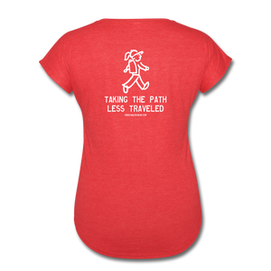 Great Trails - Chilkoot Trail - Women's Tri-Blend V-Neck T-Shirt - heather red