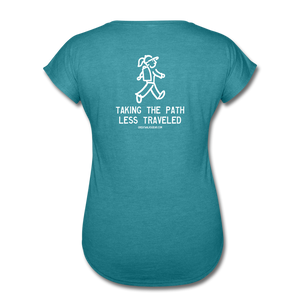 Great Trails - Chilkoot Trail - Women's Tri-Blend V-Neck T-Shirt - heather turquoise