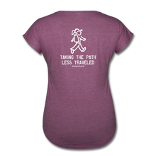 Load image into Gallery viewer, Great Trails - Chilkoot Trail - Women's Tri-Blend V-Neck T-Shirt - heather plum