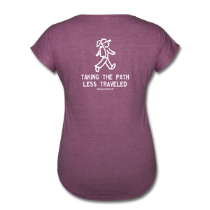 Great Trails - Chilkoot Trail - Women's Tri-Blend V-Neck T-Shirt - heather plum