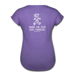 Great Trails - Chilkoot Trail - Women's Tri-Blend V-Neck T-Shirt - purple heather
