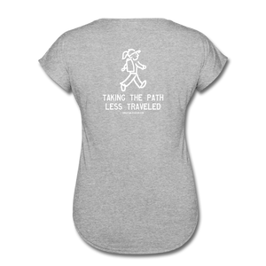 Great Trails - MUliwai Trail - Women's Tri-Blend V-Neck T-Shirt - heather gray
