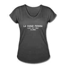 Load image into Gallery viewer, Great Trails - La Ciudad Perdida - Women's Tri-Blend V-Neck T-Shirt - deep heather