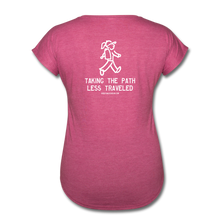 Load image into Gallery viewer, Great Trails - La Ciudad Perdida - Women's Tri-Blend V-Neck T-Shirt - heather raspberry