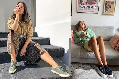 LOOKS CON ZAPATILLAS SUPERGA PARA ESTAR EN CASA