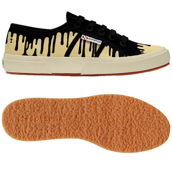 Superga Perú 2750 FANTASY COTU Dripping Black Cream