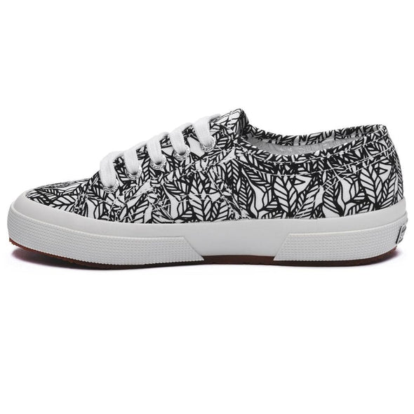 Superga Perú 2750 FANTASY COTU Leaves Black White