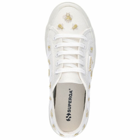 Superga Perú 2750 INSECTEMBROIDERYCOTW White Gold Insects
