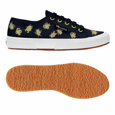 Superga Perú 2750 INSECTEMBROIDERYCOTW Navy Gold Insects