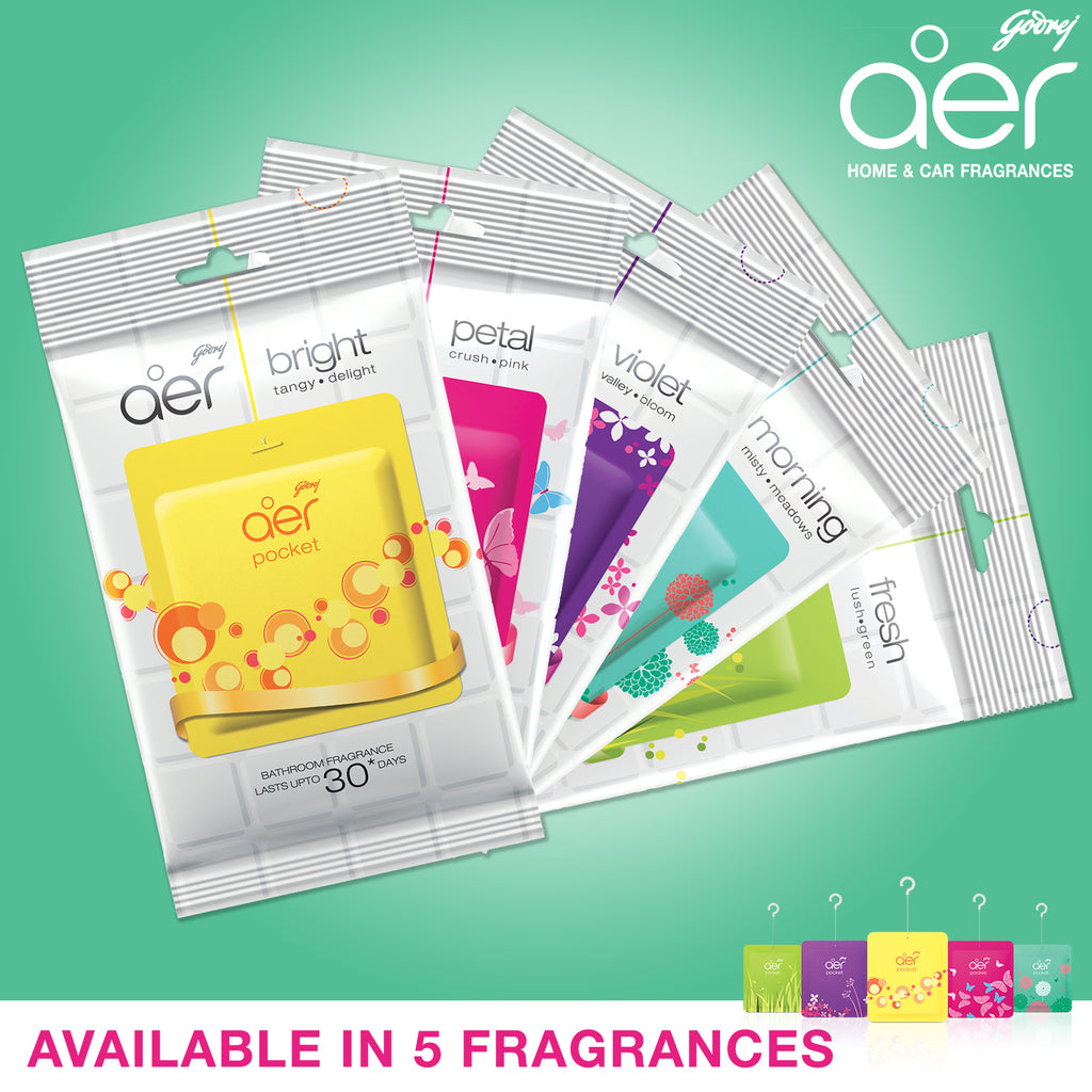Godrej aer pocket, bathroom air fragrance assorted pack of 3