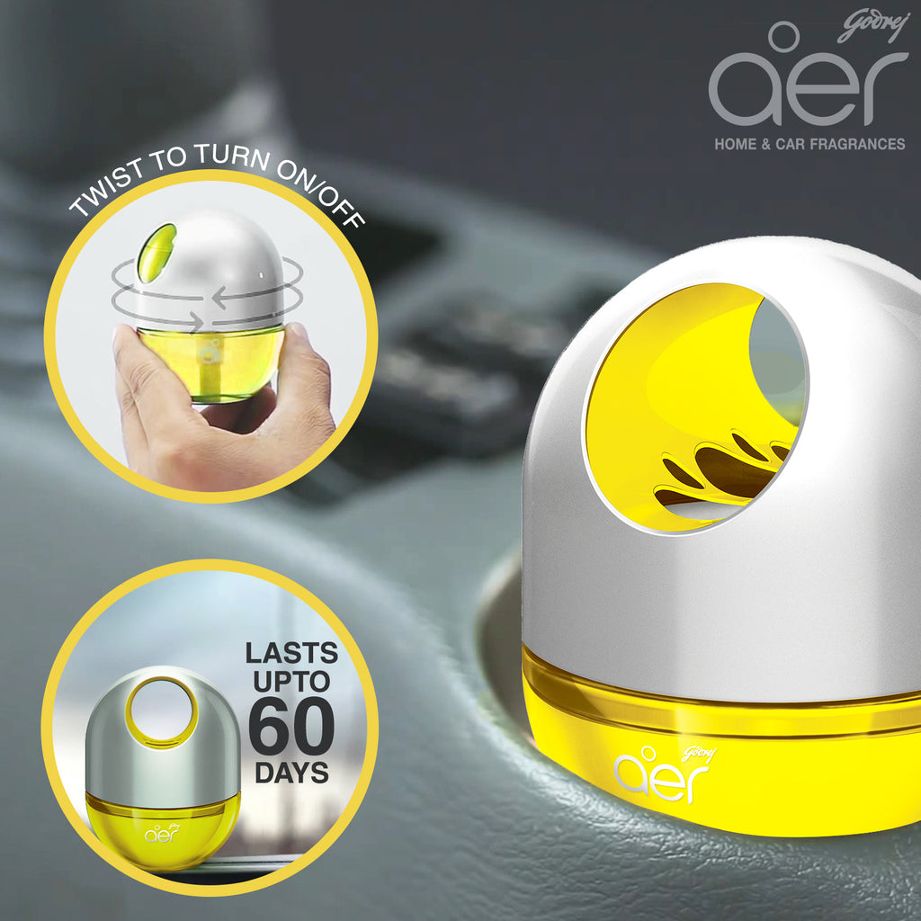 Godrej aer twist, car air freshener <span class='sunny-citrus'>sunny citrus blast 45g</span>