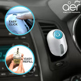 Godrej aer click, car vent air freshener kit <span class='cool-blue'>cool surf blue 10g</span>