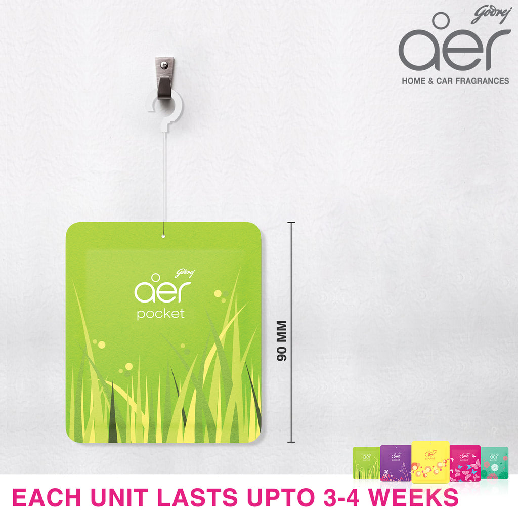 Godrej aer pocket, bathroom air fragrance <span class='lush-green'>fresh lush green 10g</span>