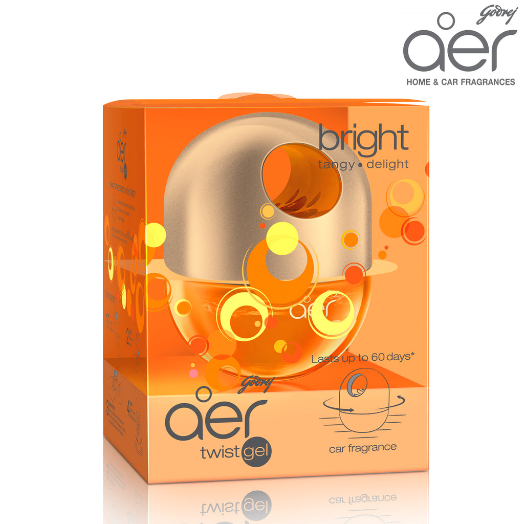 Godrej aer twist, car air freshener <span class='bright-tangy'>bright tangy delight 45g</span>