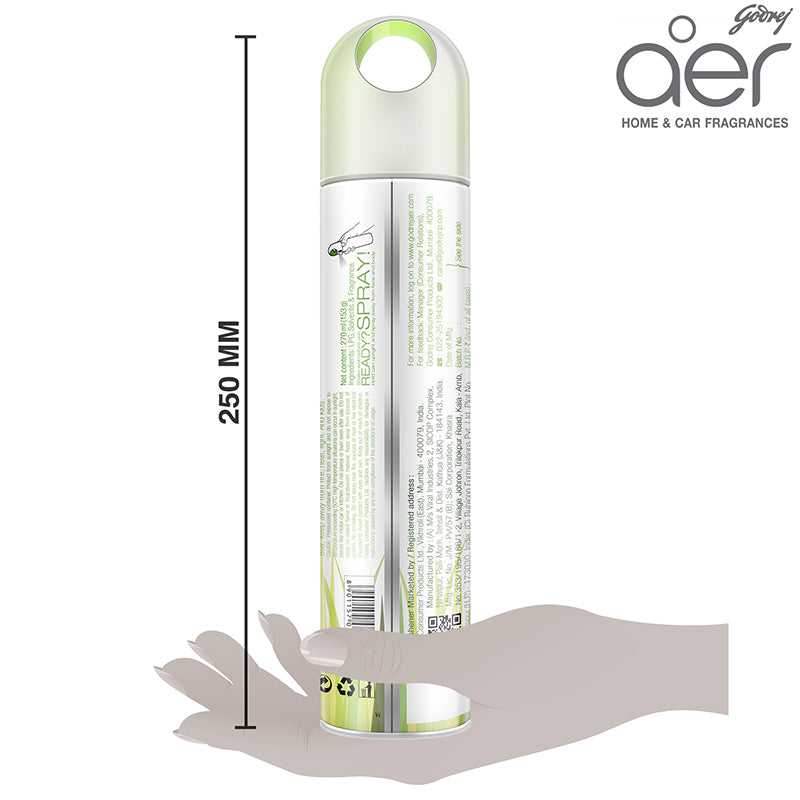 Godrej aer spray, home & office air freshener <span class='lush-green'>fresh lush green 240ml</span>