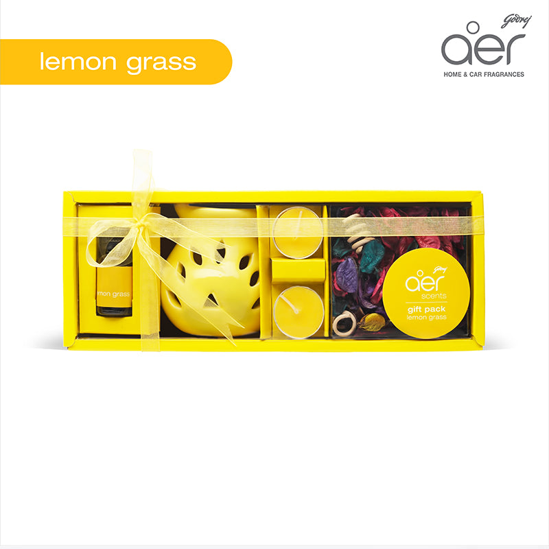 Godrej aer scents gift pack <span class='lemongrass-yellow'>lemongrass</span>
