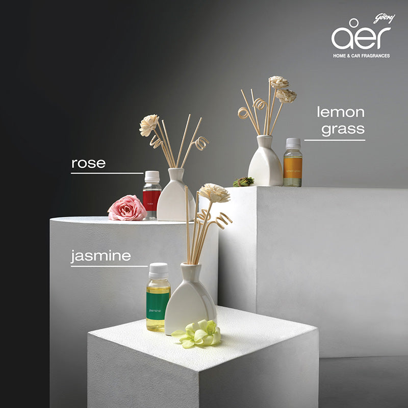 Godrej aer scents reed diffuser <span class='rose'>rose</span>