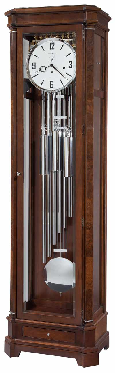 Walnut Floor Clock with Tubular Chimes