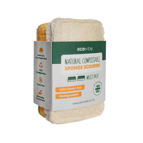 Compostable Sponge Scourer Duo Pack