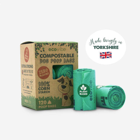 UK made compostable poop bags