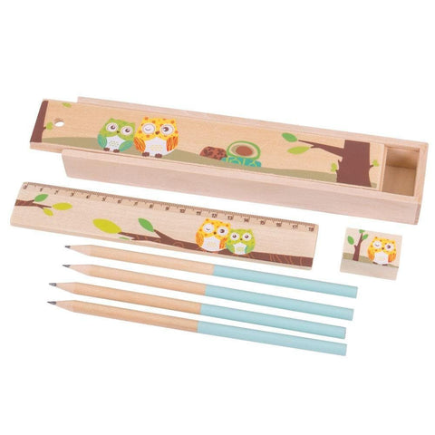 Owl Pencil Box Set