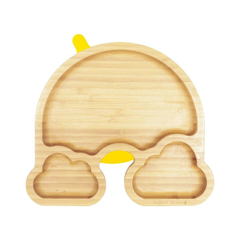 rainbow design bamboo plate for baby