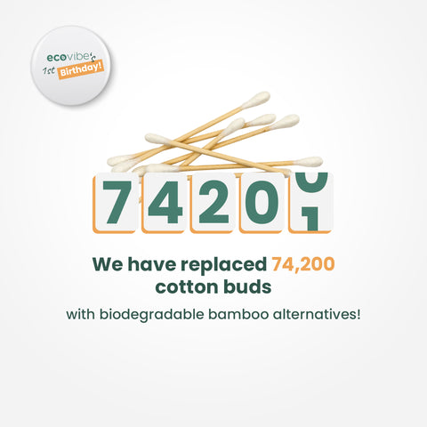 We have replaced 74,200 cotton buds